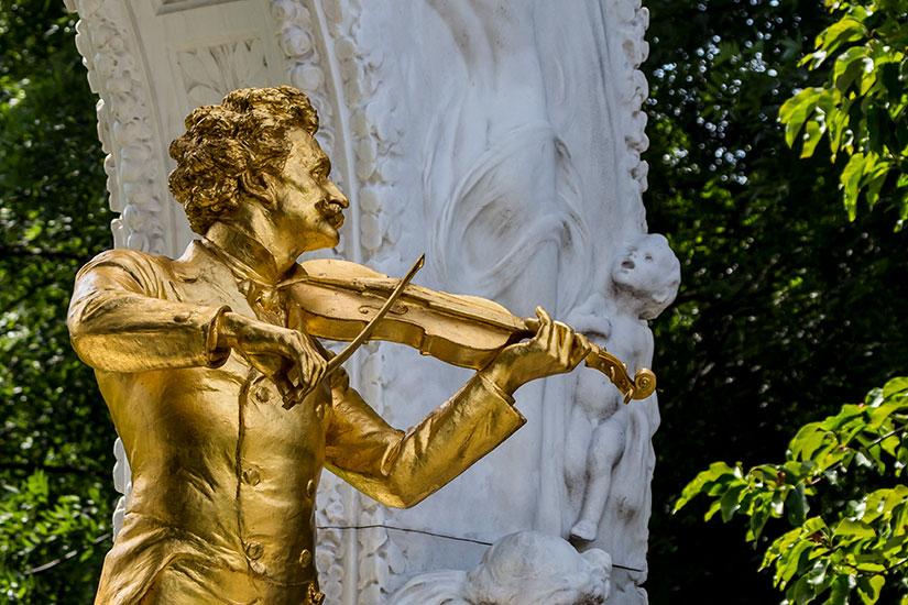 image Autriche Vienne Johann Strauss Monument  fo