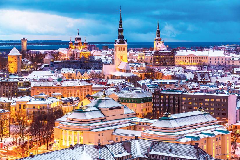 image Estonie tallinn capitales internationales cathedrale colline calcaire toompea hiver 24 it_527368527