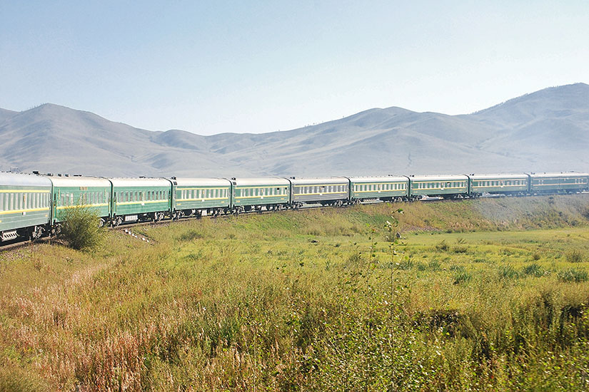 image Mongolie Trainsiberian train Ulaanbaatar Beijing  it