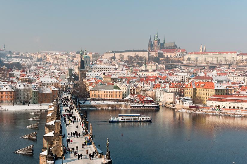 image Republique Tcheque Prague Pont Charles hiver 78 as_47566089