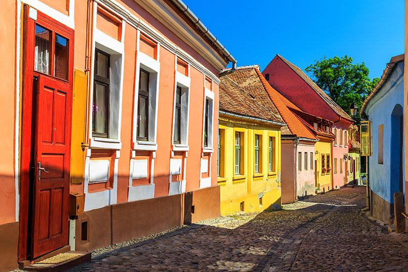 image Roumanie Sighisoara rue  fo