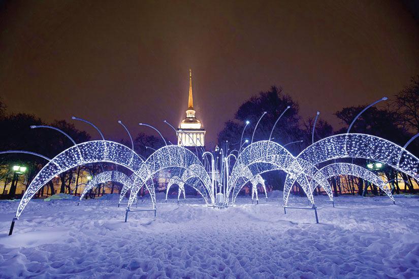 image Russie Saint Petersbourg Fontain pres de Amiraute  fo