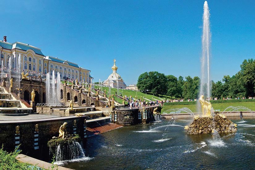 image Russie Saint Petersbourg Peterhof Fontaine Grande  fo