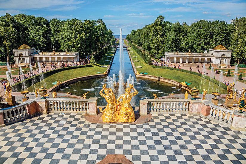 image Russie Saint Petersbourg Peterhof Grande Cascade  fo