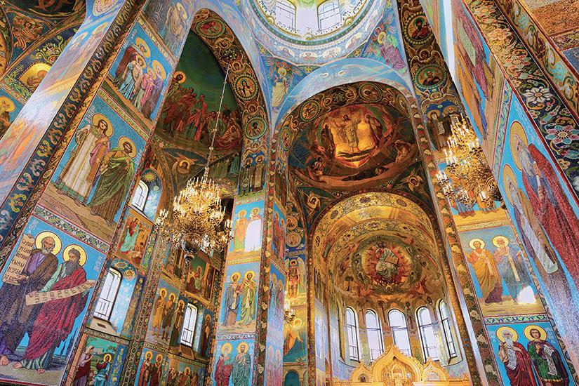 image Russie Saint Petersbourg interieur eglise  fo