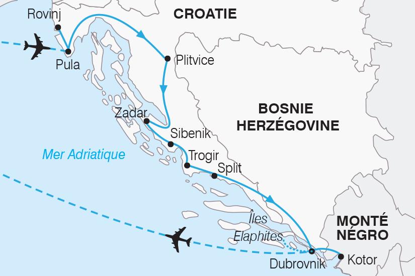 carte Croatie Le Grand Tour de Croatie SH19 20_319 378357
