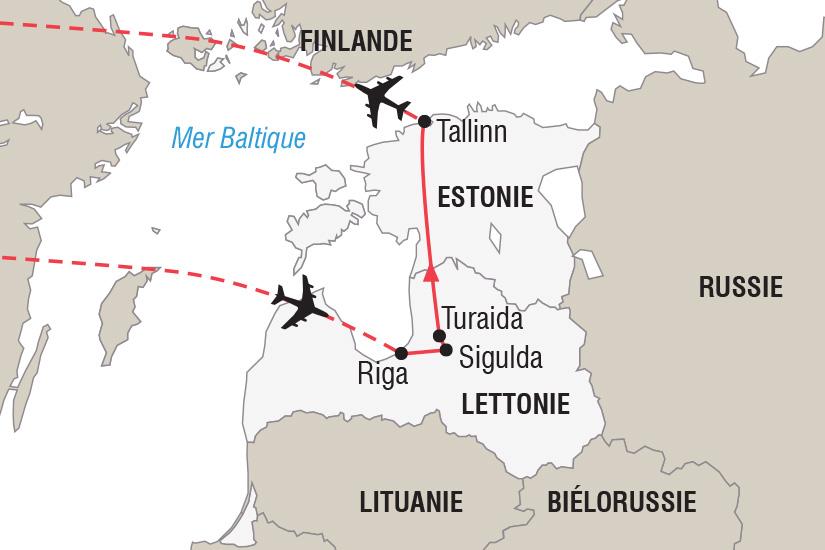 carte Estonie Lettonie Nouvel An sur la Route de l Ambre_306 651677