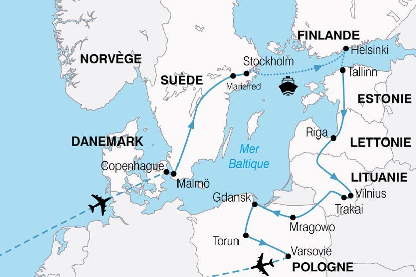 circuit le grand tour de la baltique danemark estonie finlande lettonie pologne stockholm. Black Bedroom Furniture Sets. Home Design Ideas