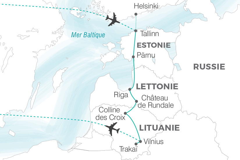 Estonie - Lettonie - Lituanie - Circuit La Route de l'Ambre (sens Tallinn / Vilnius)