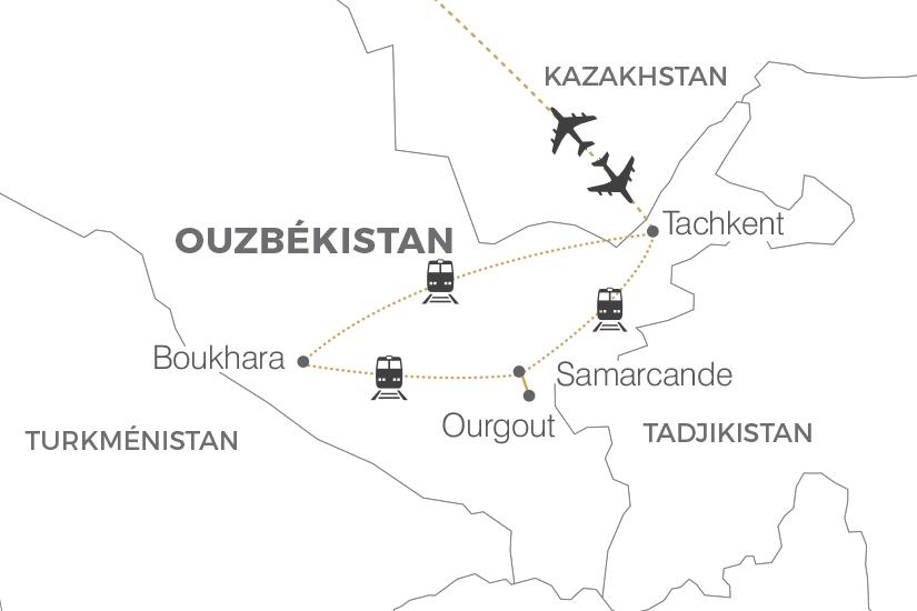 carte Ouzbekistan La Fete du Navrouz sur la Route de la Soie Pouchkine Tours 19_286 456924