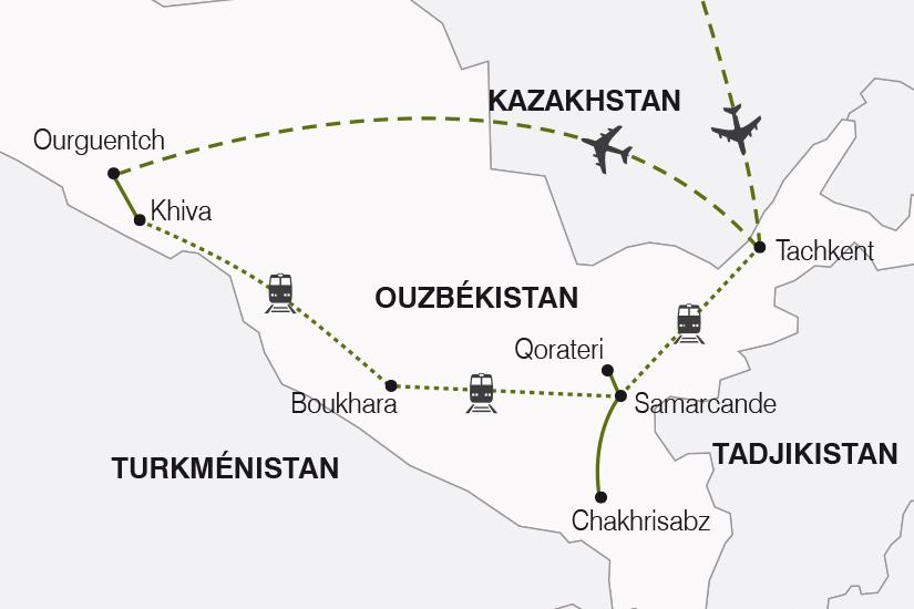 Ouzbékistan - Circuit La Route de la Soie - Arrivée Tachkent - Vols Uzbekistan Airways