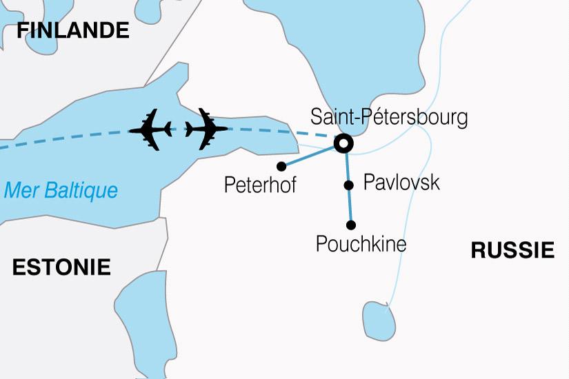 carte Russie Majestueuse Saint Petersbourg 111093