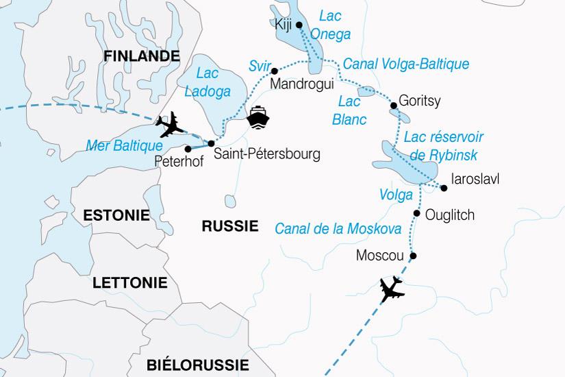 carte Russie Rythme Volga 371332