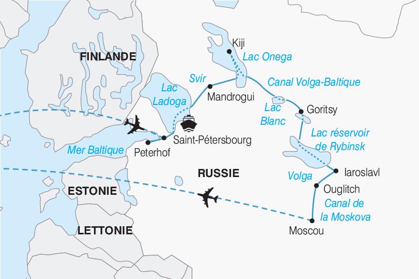 carte Russie croisiere La Russie au rythme de la Volga 2019_292 853667