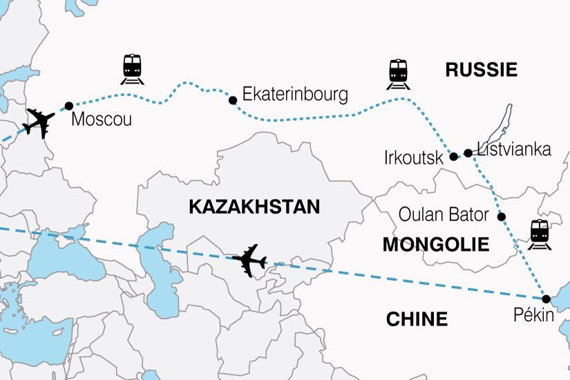 Chine - Mongolie - Russie - Voyage dans le Train de tous les Records