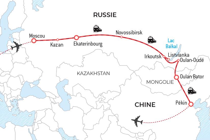 Chine - Mongolie - Russie - Circuit Transsibérien Collection Prestige - L'Or des Tsars