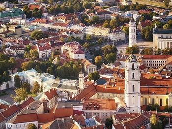 vignette Lituanie vilnius vue aerinne