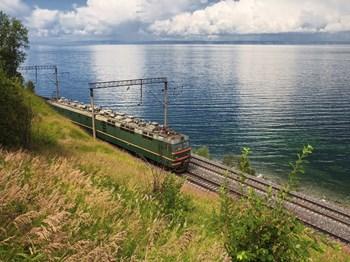 vignette Russie lac baikal et train