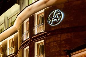 vignette Russie saint petersbourg hotel ambassador facade nuit