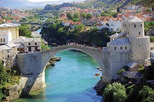 bosnie herzegovine mostar pont  fo