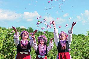 (vignette) Vignette Bulgarie Filles Festival Rose  fo