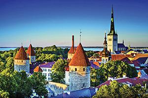(vignette) Vignette Estonie Tallinn Panorama  fo