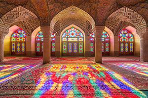 (vignette) Vignette Iran Shiraz Nasir al Mulk mosquee  fo