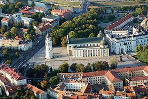(vignette) Vignette Lituanie Vilnius Vue aerienne  fo