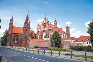 (vignette) Vignette Lituanie Vilnius eglise gothique Sainte Anne  it