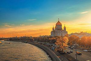 (vignette) Vignette Russie Moscou coucher soleil  fo