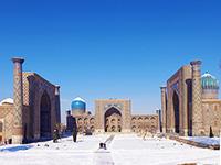 mini ouzbekistan samarcande place reghistan hiver